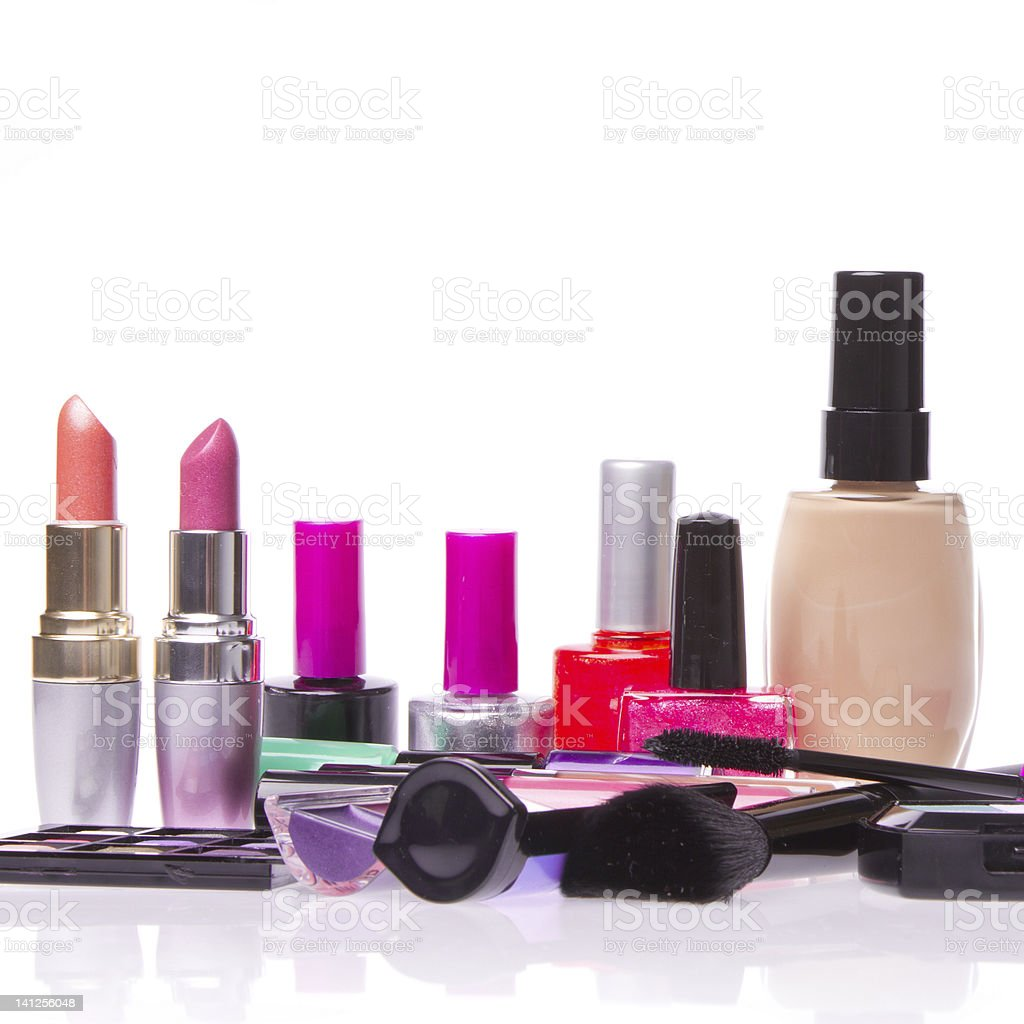 set of cosmetic products royalty-free stock photo