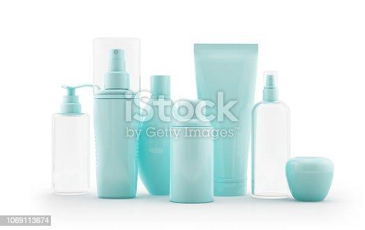 istock Set of cosmetic tubes 1069113674