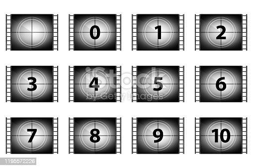 istock Set of countdown numbers 1195572226