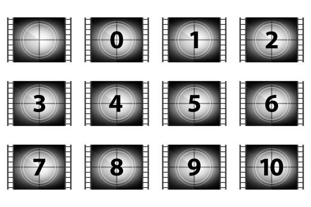 Set of countdown numbers Set of countdown numbers countdown stock pictures, royalty-free photos & images