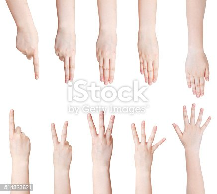513641036istockphoto set of counting hand gesture isolated 514323621