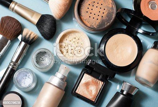 istock set of  decorative cosmetic 493029628