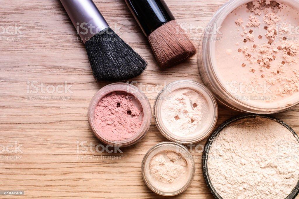 Set of decorative cosmetics stock photo