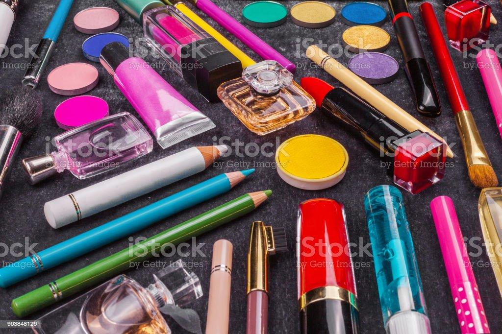 set of decorative cosmetics - Royalty-free Artist Stock Photo