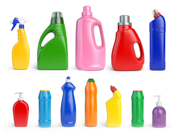 set of detergent bottles and containers, cleaning and washing supplies, - lysol stock pictures, royalty-free photos & images