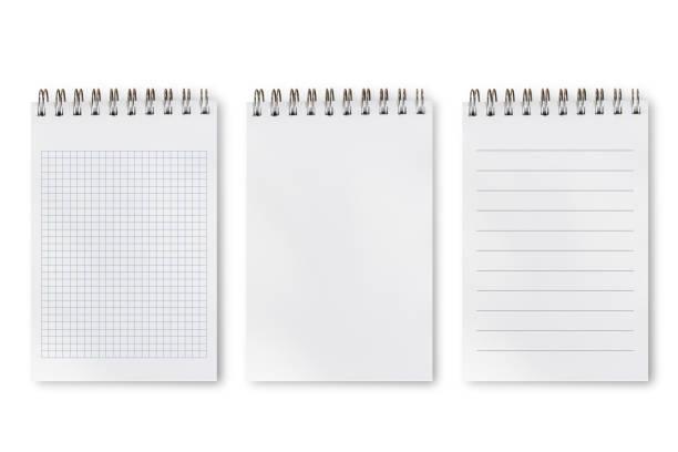 zestaw typów różnic notatnika - notes zdjęcia i obrazy z banku zdjęć