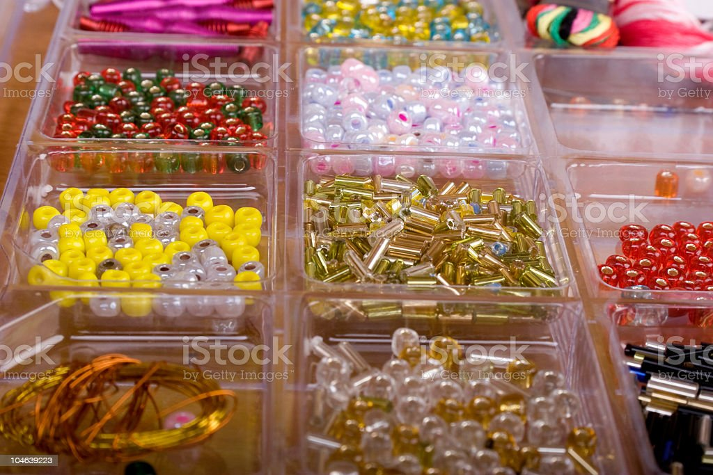 set of different beads royalty-free stock photo