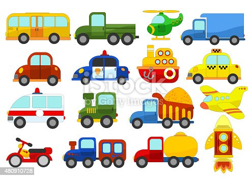 istock Set of different cars on white background 480910728