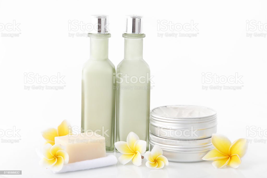 Set of different cosmetic product stock photo