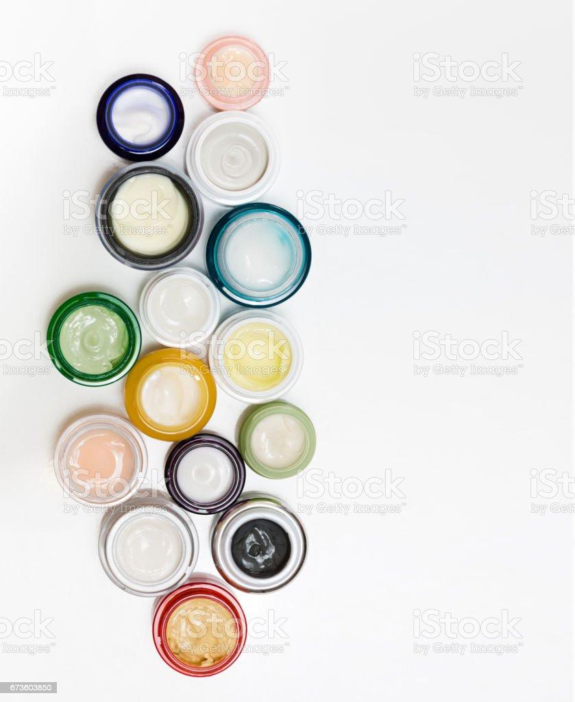 Set of different cosmetics cream stock photo