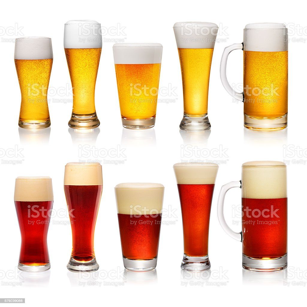 Set of different glasses of beer – Foto