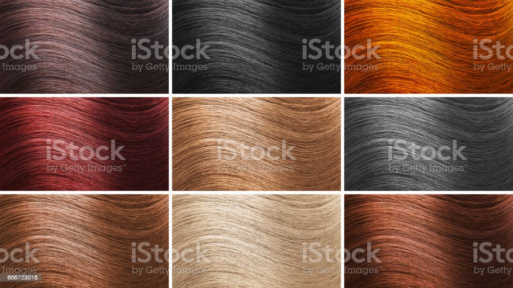 Set Of Different Hair Colors Stock Photo More Pictures Of Adult
