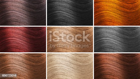 Set of different hair colors