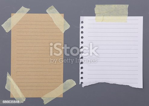 istock Set of different note papers with adhesive tape 686635848