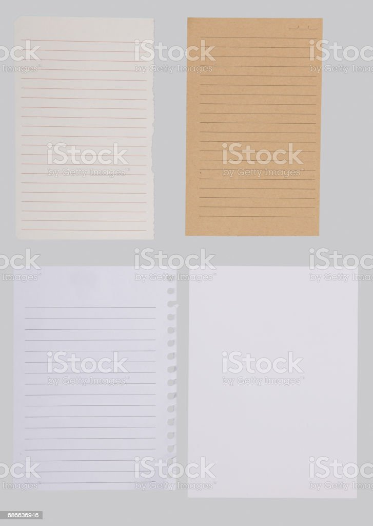 Set of different note papers with adhesive tape royalty-free stock photo