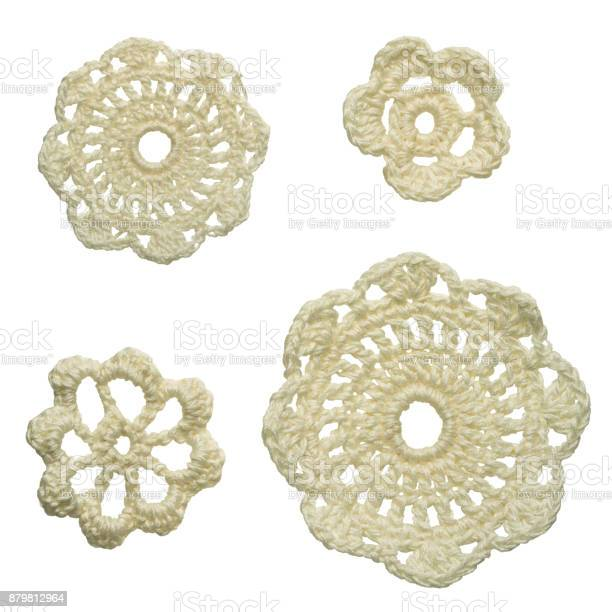 Set of different size white crocheted floral doilies isolated on picture id879812964?b=1&k=6&m=879812964&s=612x612&h=1ulbgpf8ax4yjsr3q5wpqyjifaexsngsnvsoe9hbtgi=