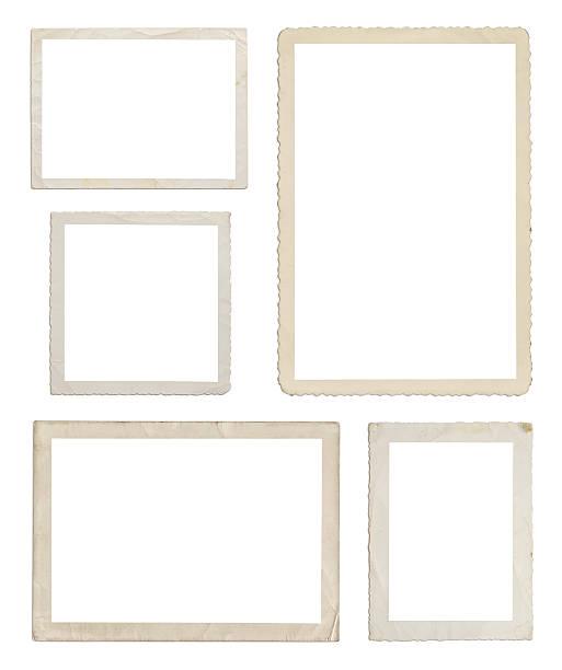 set of different wood frames in white background - fotografie stockfoto's en -beelden