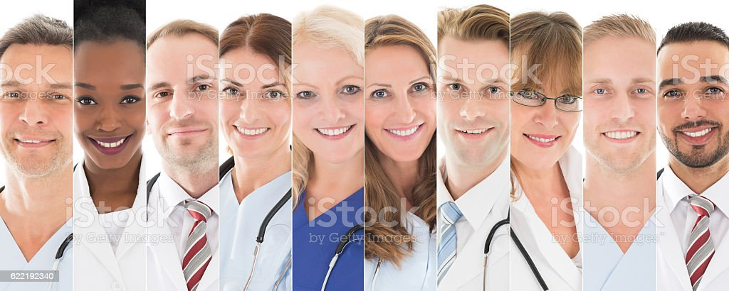 Set Of Doctors royalty-free stock photo
