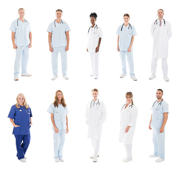 Set Of Doctors With Medical Workers – Foto