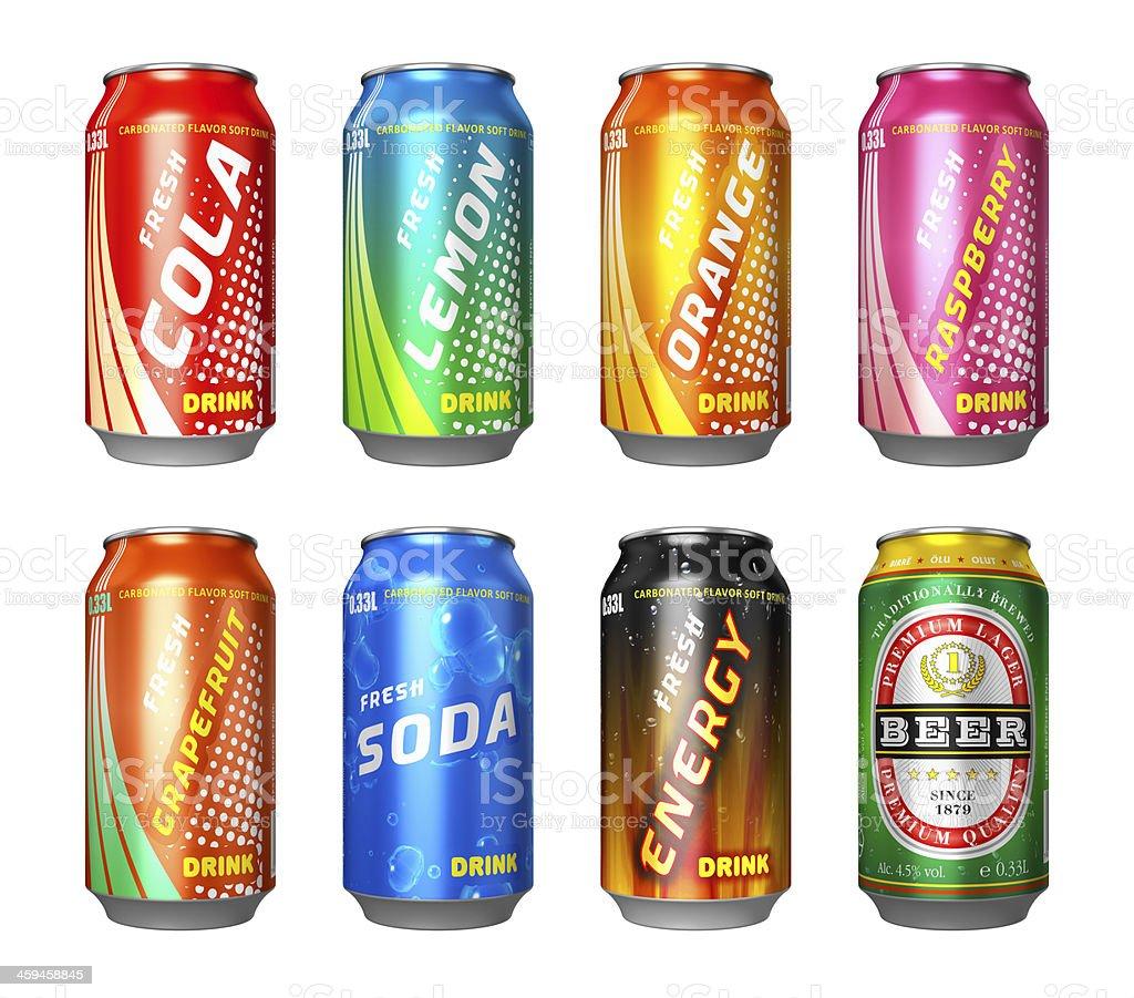 Reihe von Getränk aus der Dose – Foto