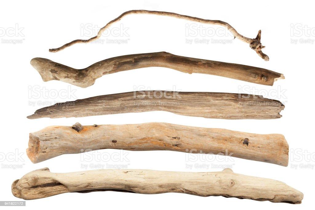 De rama de árbol seco aislado con trazado de recorte - foto de stock