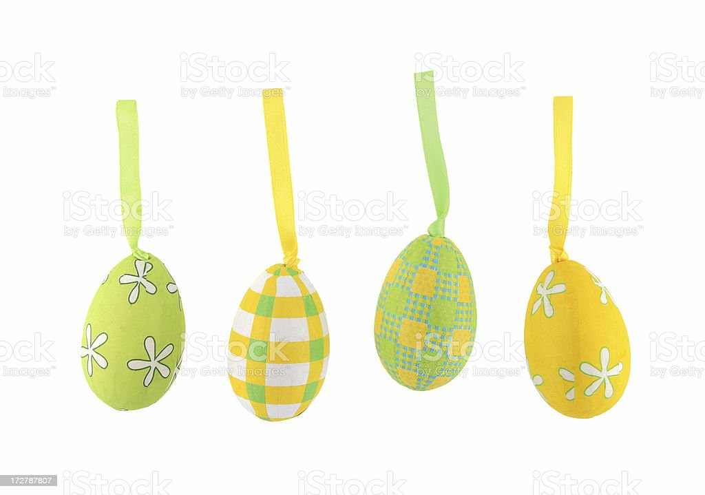 set of easter decorative colorful eggs royalty-free stock photo