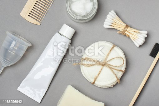 istock Set of eco friendly body care items 1168256942