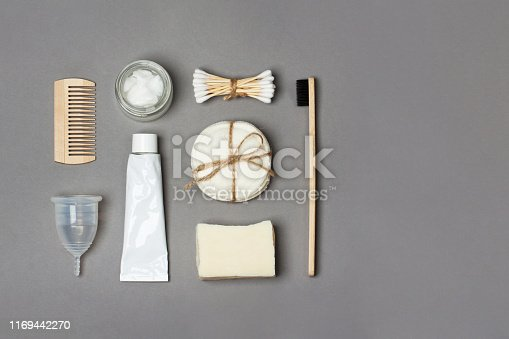 istock Set of eco friendly body care items 1169442270