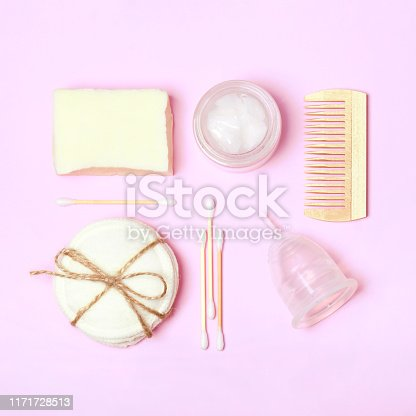 istock Set of eco friendly body care items 1171728513