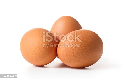 set of chicken egg isolated on white background