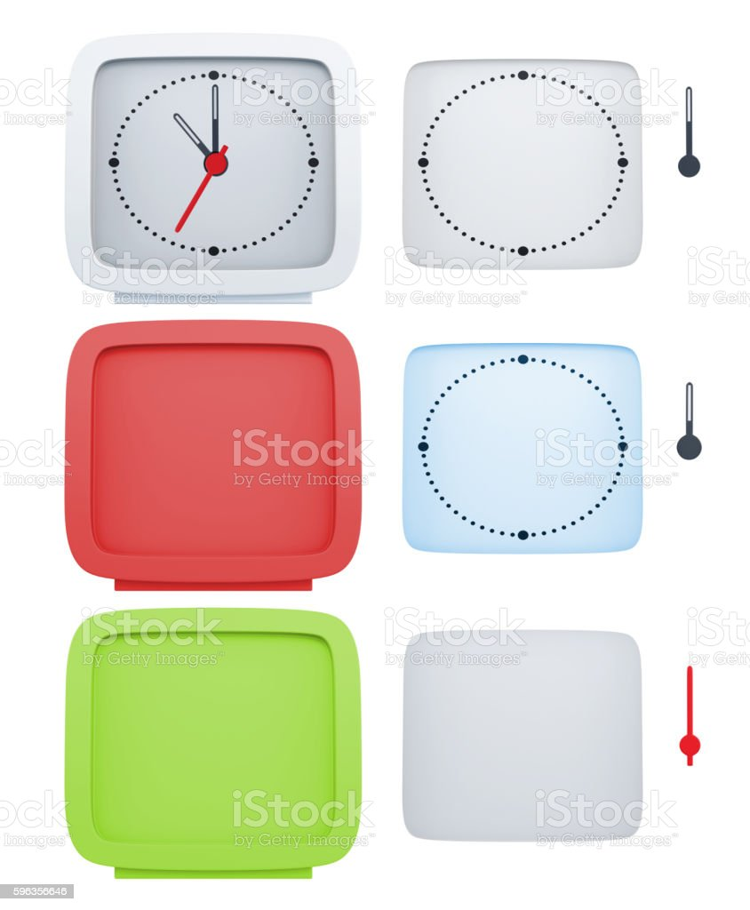 Set of elements for design of an alarm clock. royalty-free stock photo