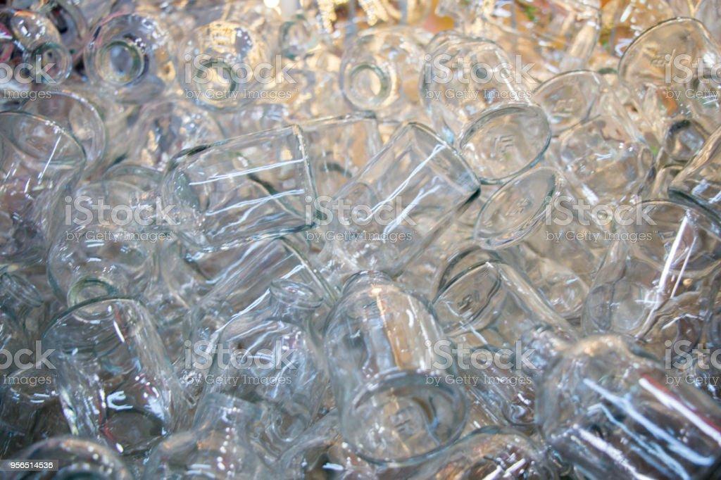 Satz von wenig transparenten Leerflaschen - Lizenzfrei Behälter Stock-Foto