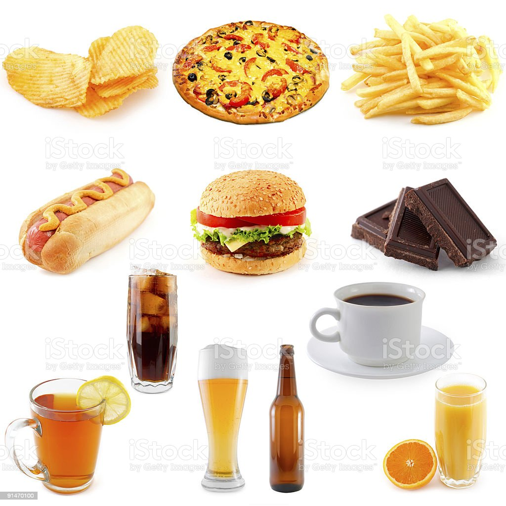 set of fast food royalty-free stock photo