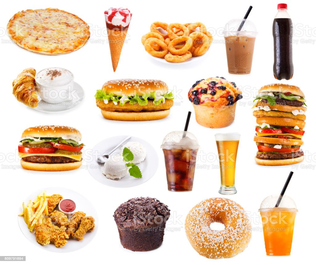 set of fast food products - Royalty-free Unhealthy Eating Stock Photo