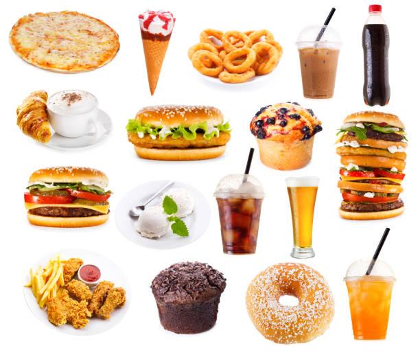 速食食品產品集 - 不健康飲食 個照片及圖片檔