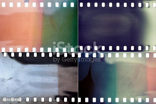 istock Set of film textures 643424906