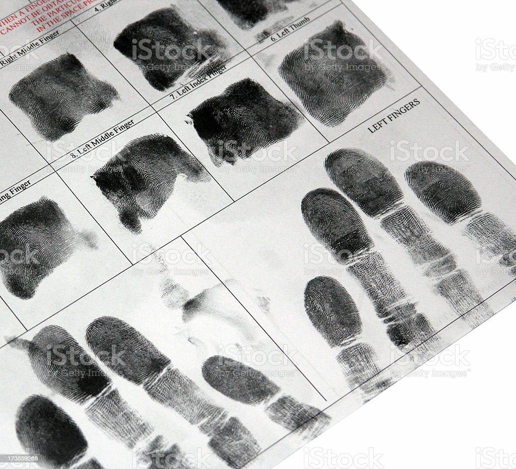 Set of Fingerprints royalty-free stock photo