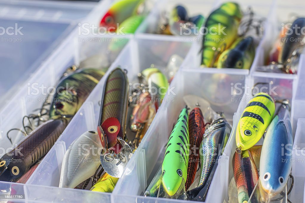 Set of fishing lures royalty-free stock photo