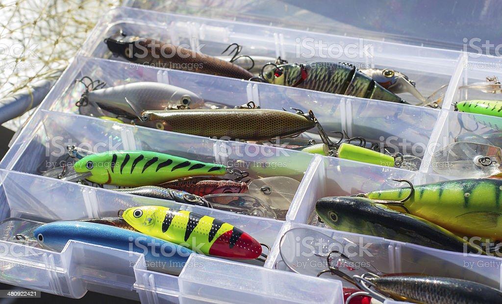 Set of fishing lures royalty-free stock photo