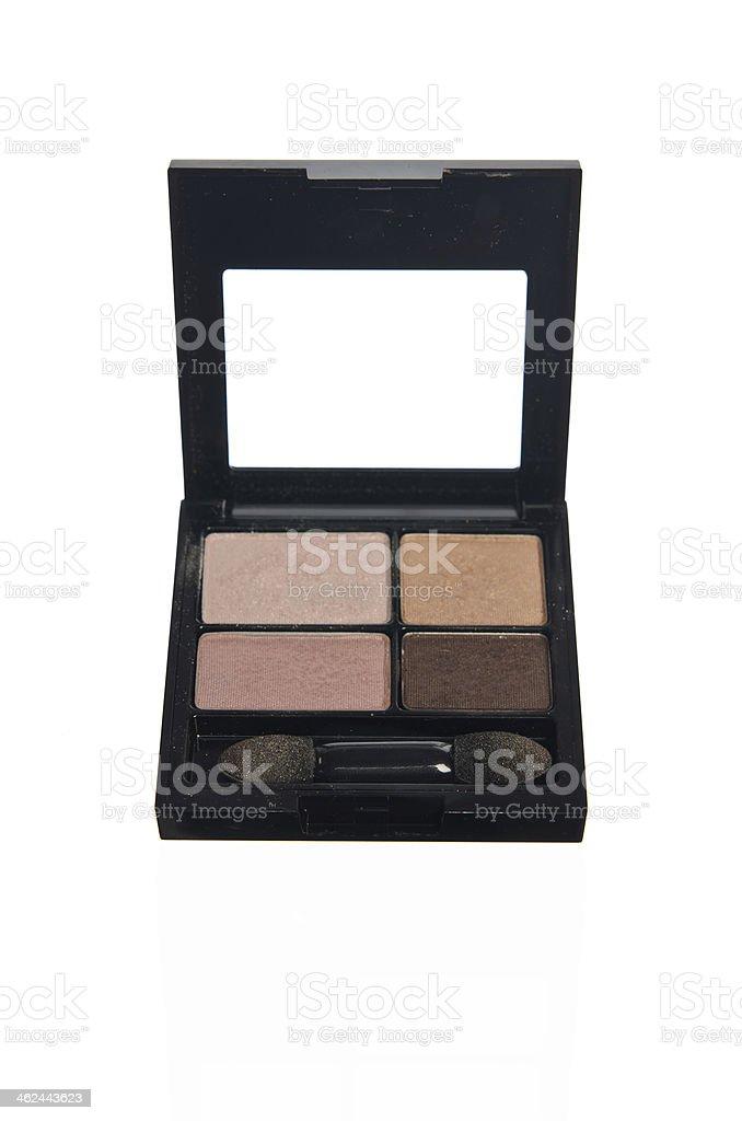 set of four colors eye shadows stock photo