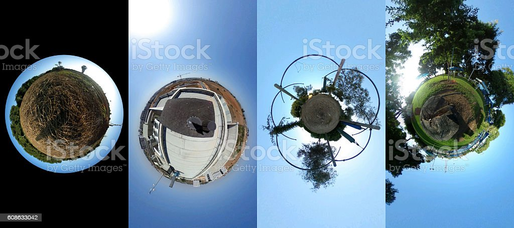 set of four pictures - Tiny world - Photo