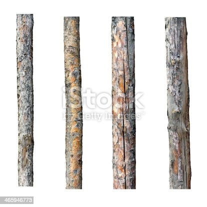 set of four timber isolated on white background