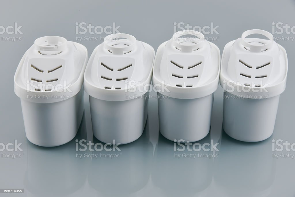Set of four water filters royalty-free stock photo