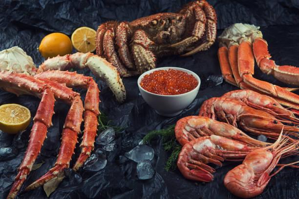 Frische Meeresfrüchte – Foto