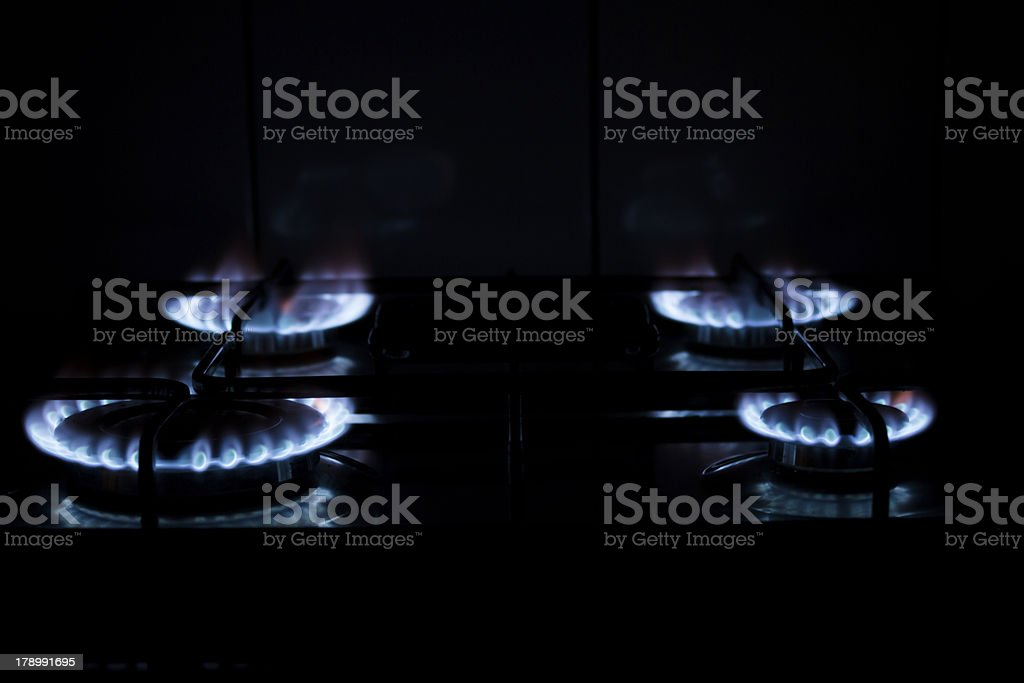 Set of gas hobs royalty-free stock photo
