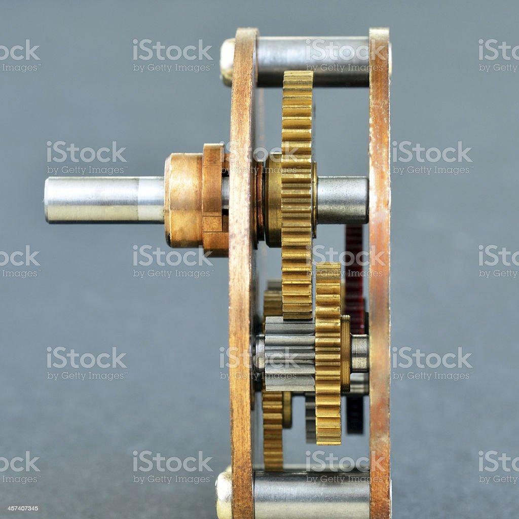 Set of gear wheels stock photo