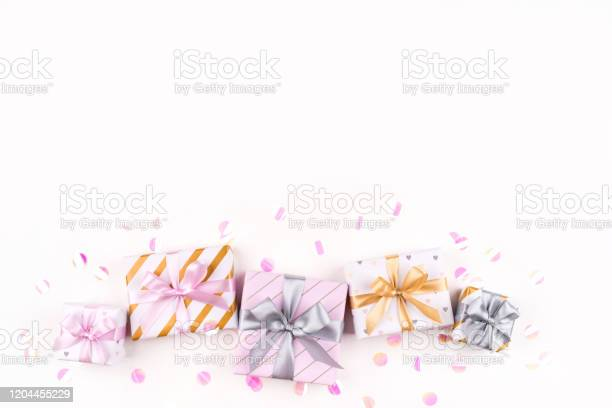 Set of gift boxes with bows and confetti on a white background picture id1204455229?b=1&k=6&m=1204455229&s=612x612&h=3tvkzkdgbreqn68p0aq2x6zuaitcazxhnxug94hptru=