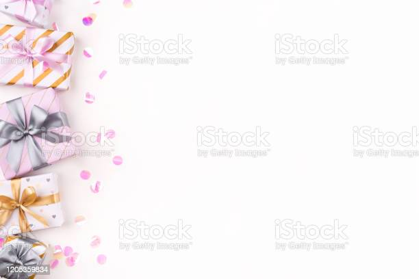Set of gift boxes with bows and confetti on a white background picture id1205359834?b=1&k=6&m=1205359834&s=612x612&h=axwgsyploxupyd911fmhqij2lyszewggzmgi lhjgvi=
