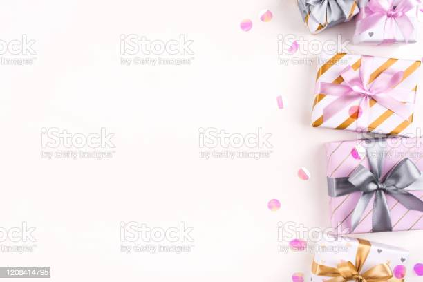 Set of gift boxes with bows and confetti on a white background picture id1208414795?b=1&k=6&m=1208414795&s=612x612&h=qlt sv fmmioiprwv3wpx2vffmazgqbyv8gzqxv hjs=
