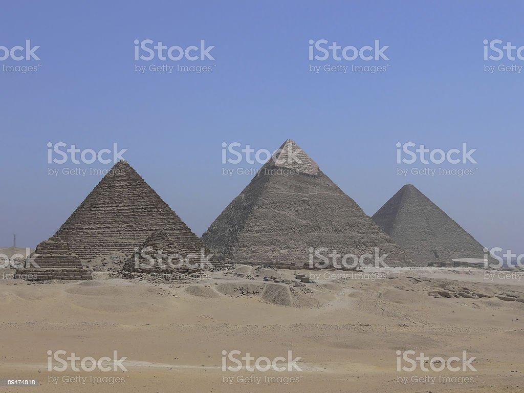 Set of Giza Pyramids 3 royalty-free stock photo